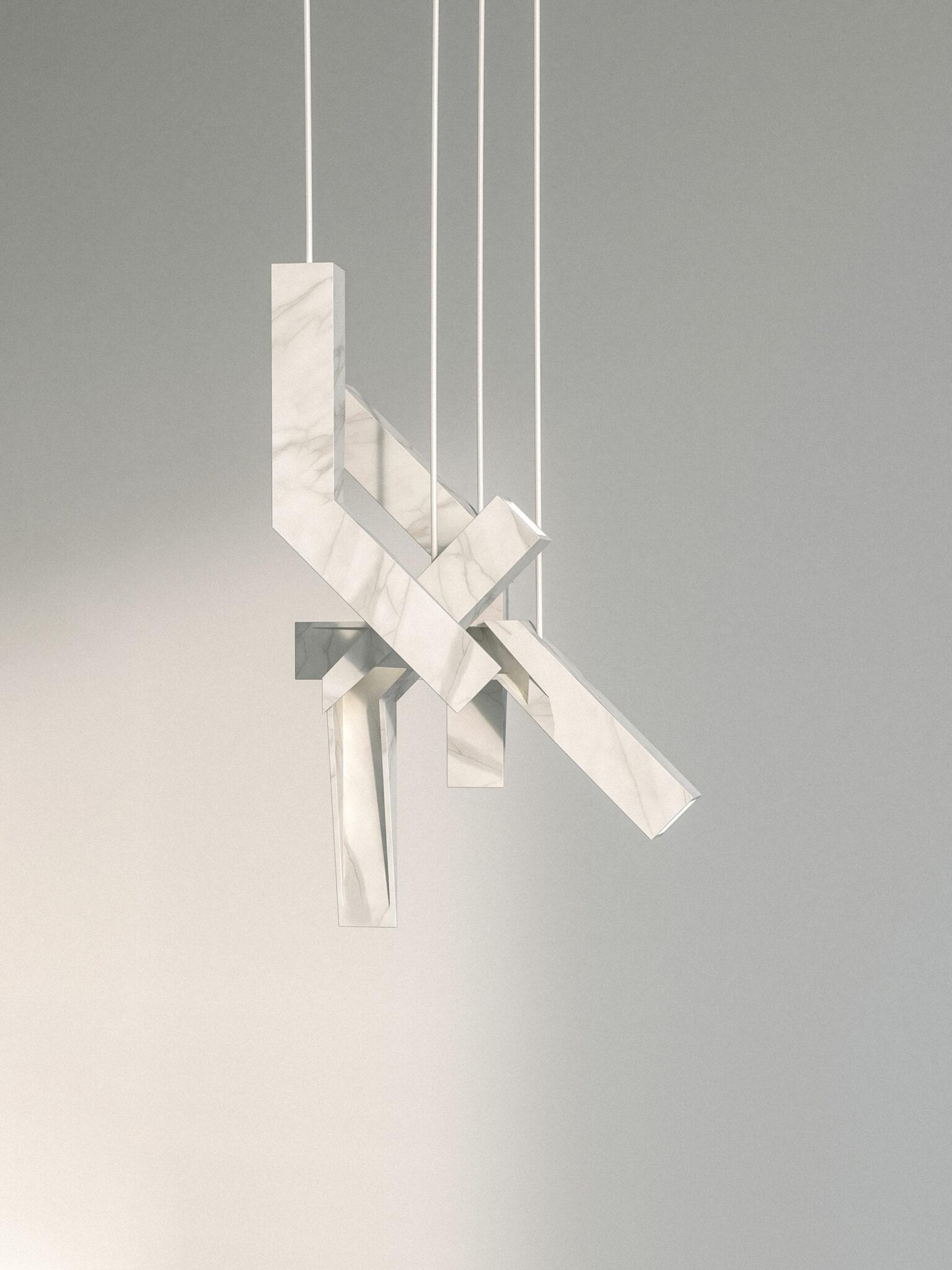A Cut - Marble suspension lamp