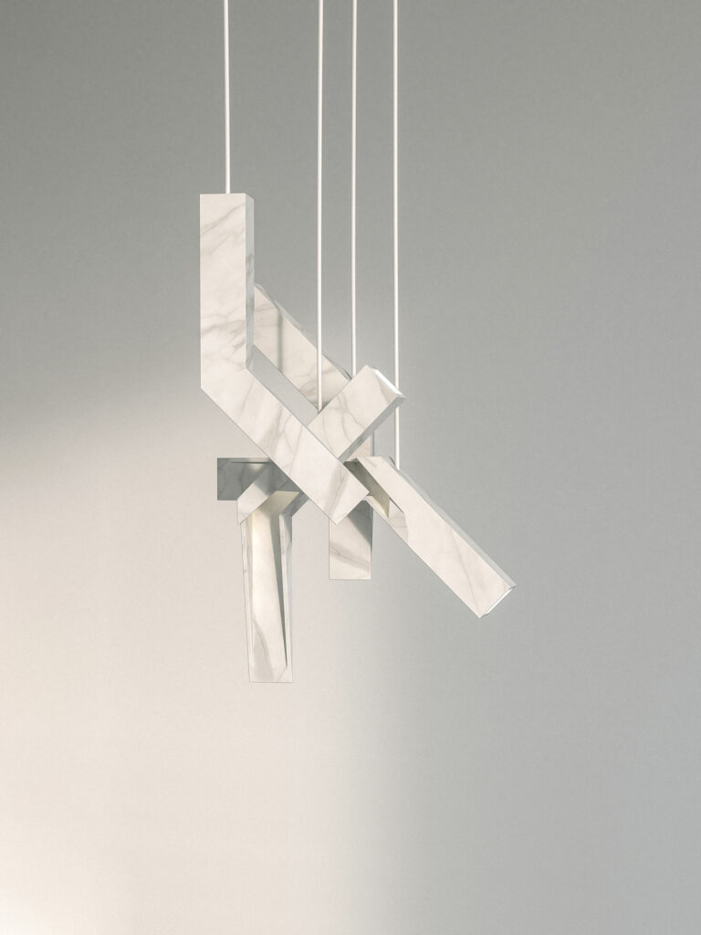 A Cut - Marble suspension lamp