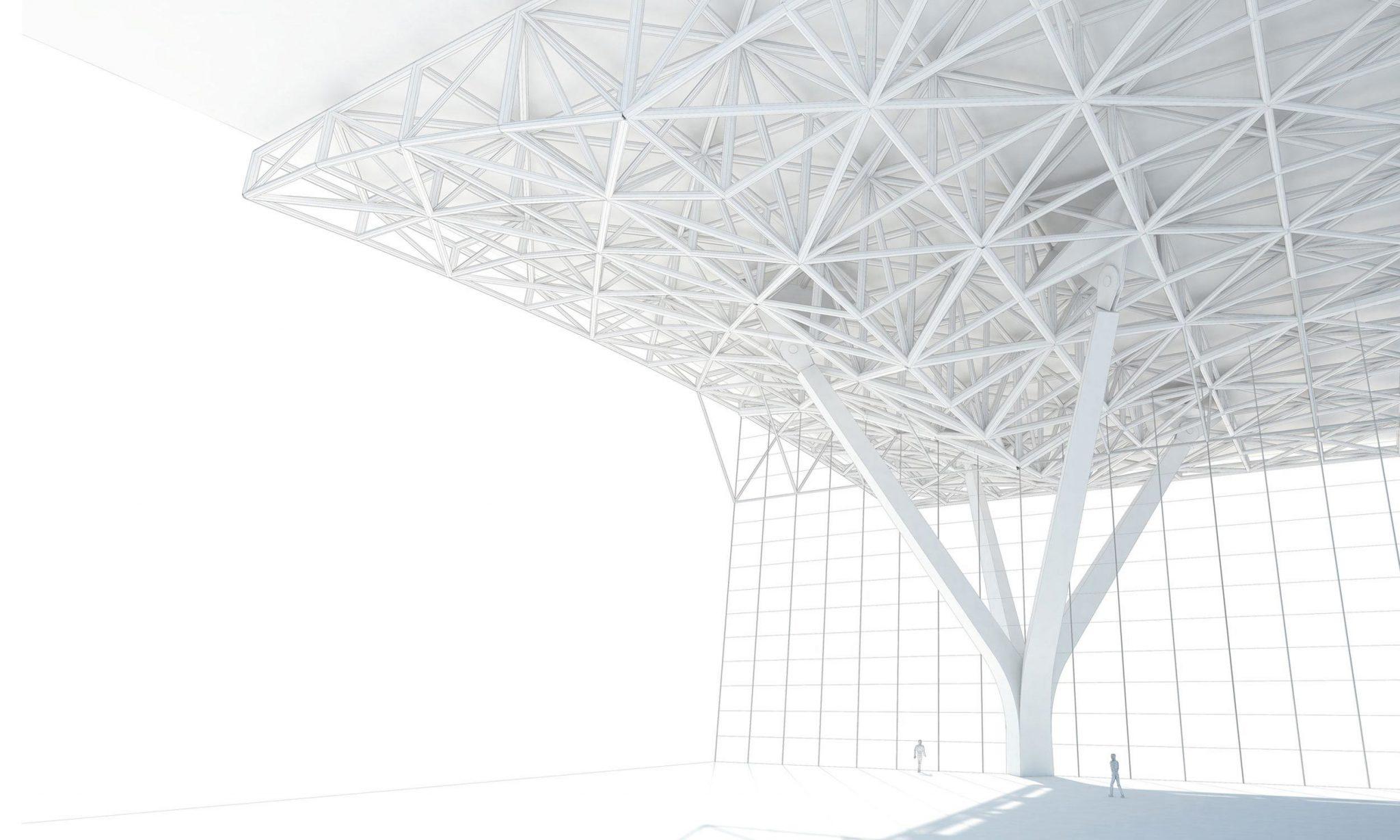 Incheon airport structural design detail